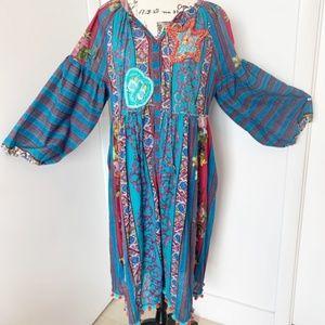 NWT Antica Sartoria Boho Dress/Tunic/Beach Coverup